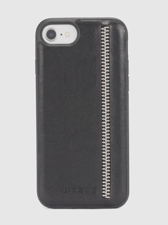 Diesel - ZIP BLACK LEATHER IPHONE 8 PLUS/7 PLUS/6s PLUS/6 PLUS CASE, Schwarz - Schutzhüllen - Image 2