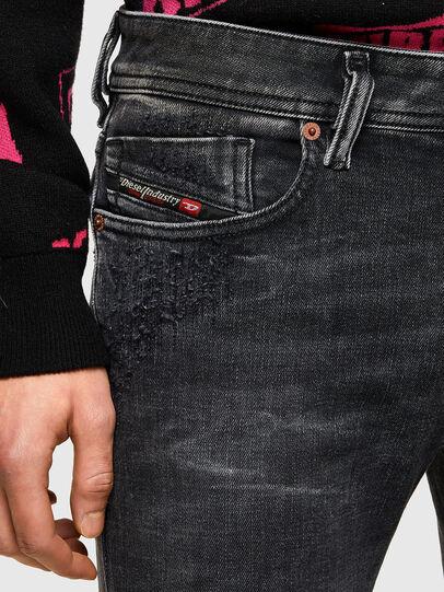 Diesel - Sleenker 009QA, Schwarz/Dunkelgrau - Jeans - Image 5