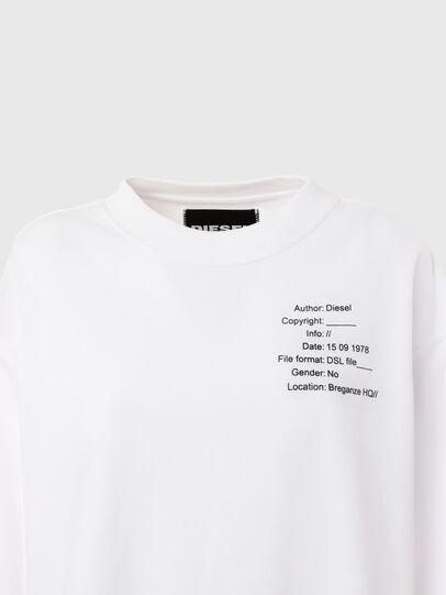 Diesel - UFTL-FELPH, Weiß - Sweatshirts - Image 3