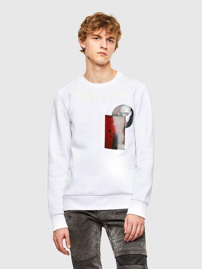 Diesel - S-ARGON-A, Weiß - Sweatshirts - Image 1