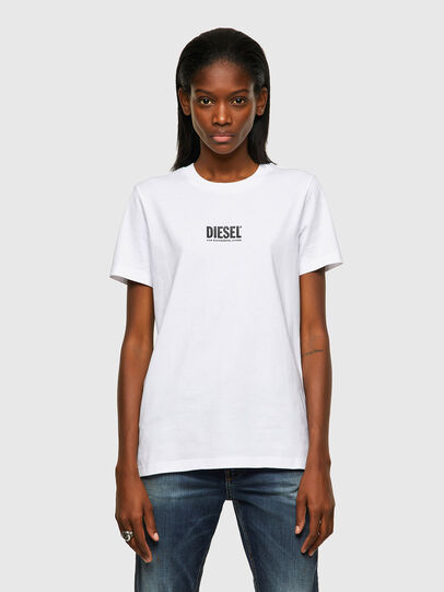Diesel - T-SILY-ECOSMALLOGO, Weiß - T-Shirts - Image 1