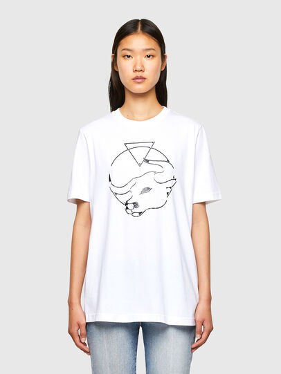 Diesel - CL-T-JUST-O, Weiß - T-Shirts - Image 2