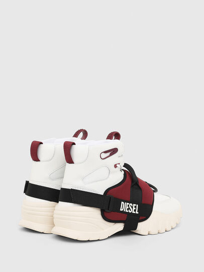 Diesel - S-SHARQUEZ MID, Weiß/Rot - Sneakers - Image 3