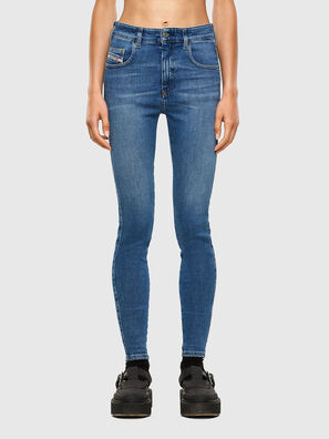 Slandy High 009AG, Mittelblau - Jeans