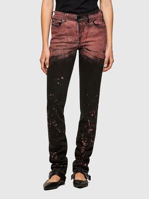 TYPE-1005, Schwarz/Rot - Jeans