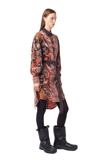 Bahnenkleid aus Tencel-Twill