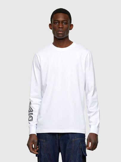 Diesel - T-JUST-LS-A7, Weiß - T-Shirts - Image 1