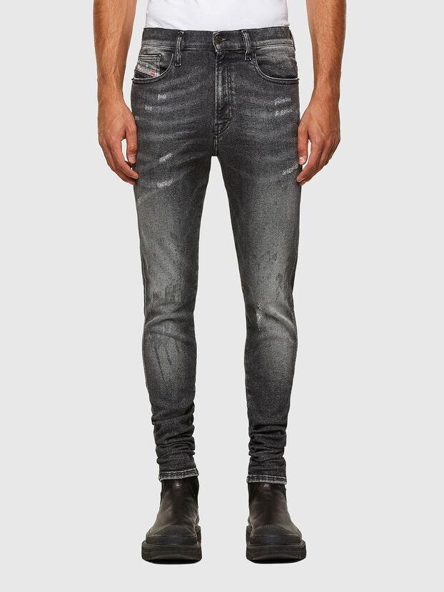D-Istort 009EX, Schwarz/Dunkelgrau - Jeans
