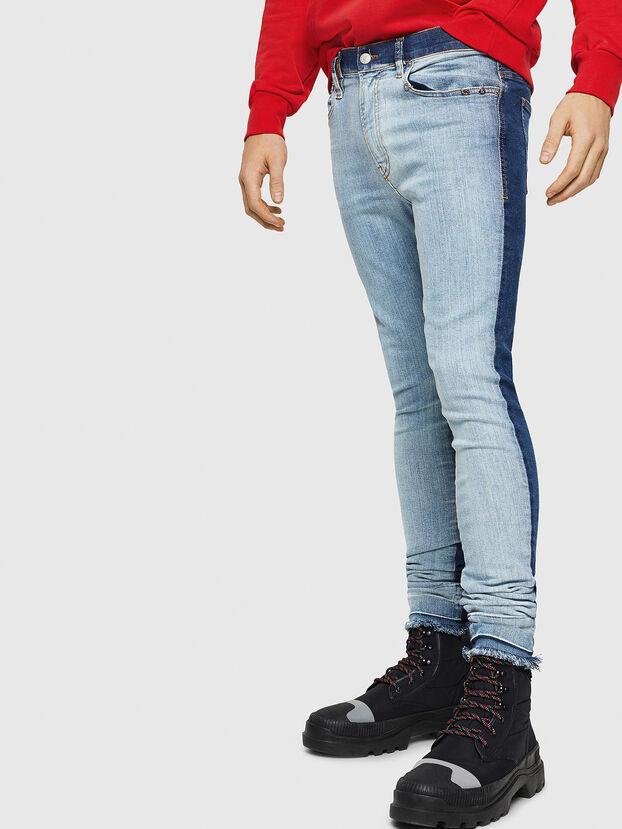 D-Istort 085AU, Mittelblau - Jeans