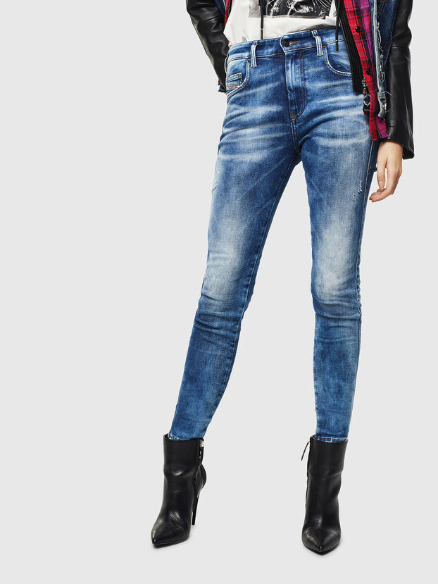 Slandy High 0096J, Mittelblau - Jeans