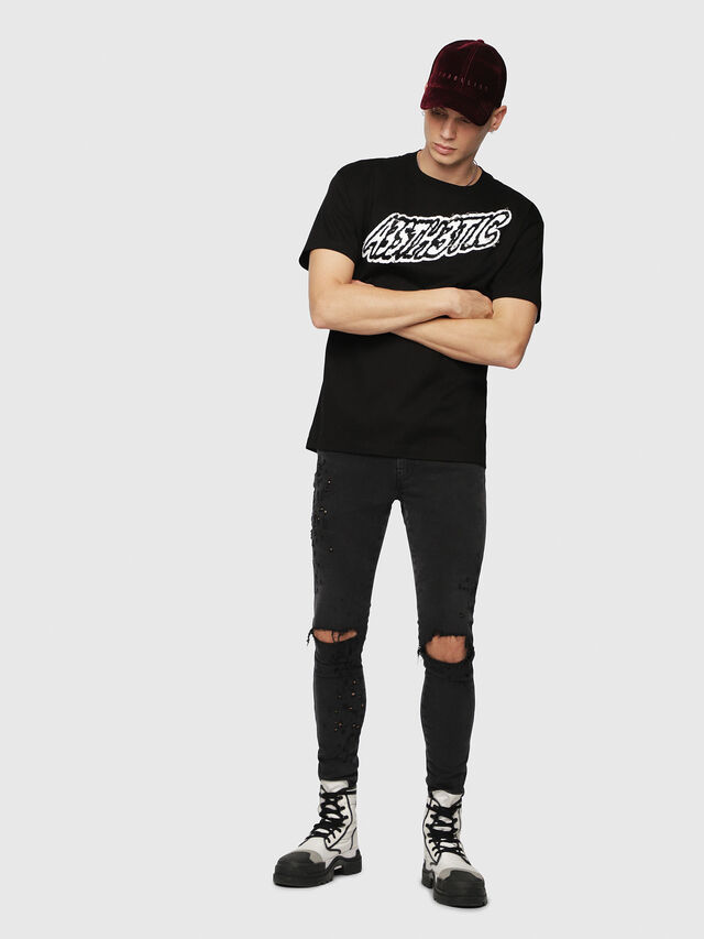 Diesel - T-WALLACE-YC, Schwarz - T-Shirts - Image 4