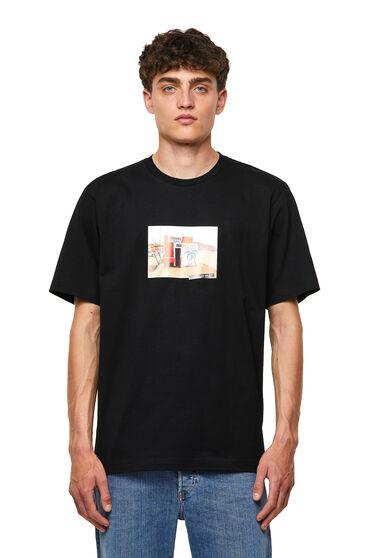 Nahtloses T-Shirt mit Fotoprint