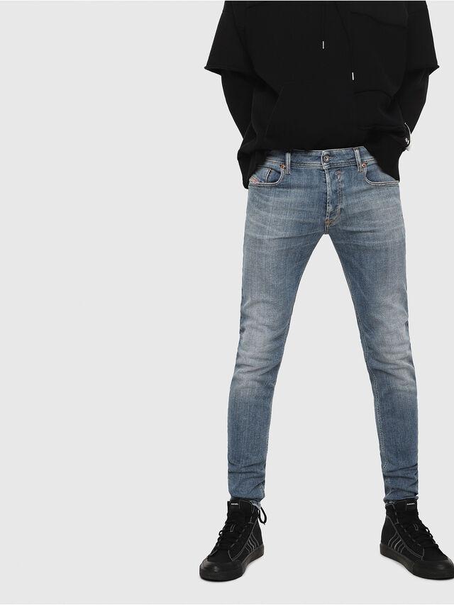 a42dca3e76c8 SLEENKER 086AP Herren: Skinny Jeans Hellblau | Diesel