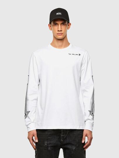 Diesel - T-JUST-LS-A8, Weiß - T-Shirts - Image 1