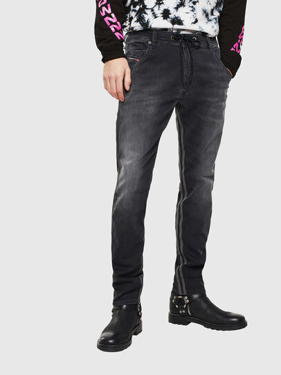 Diesel - Krooley JoggJeans 0094Q, Schwarz/Dunkelgrau - Jeans - Image 1