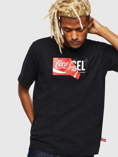 Diesel - CC-T-JUST-COLA, Schwarz - T-Shirts - Image 1