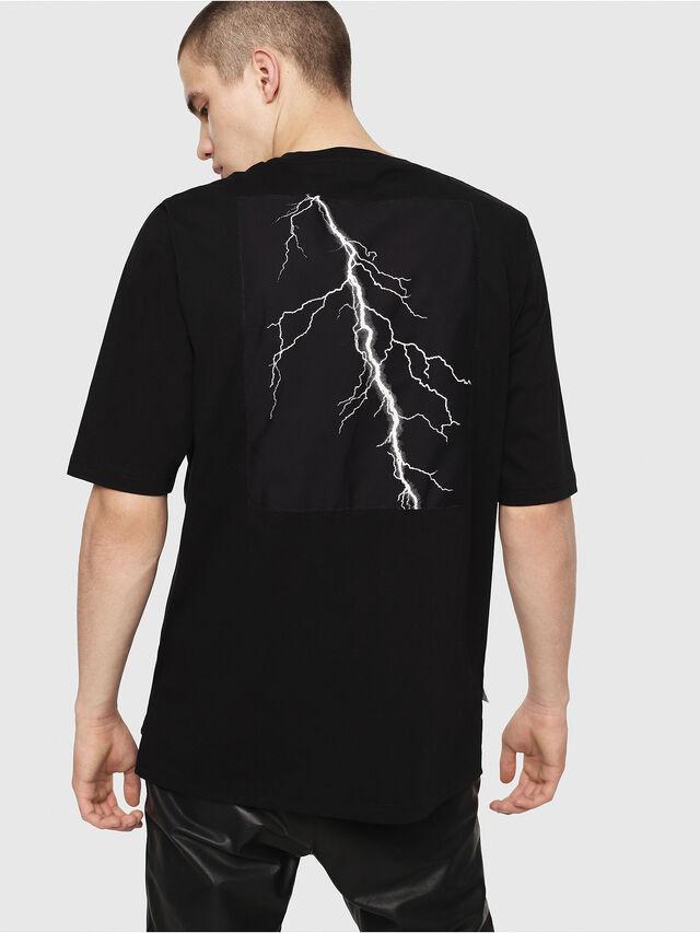 Diesel - T-YOSHIMI, Schwarz/Gelb - T-Shirts - Image 2