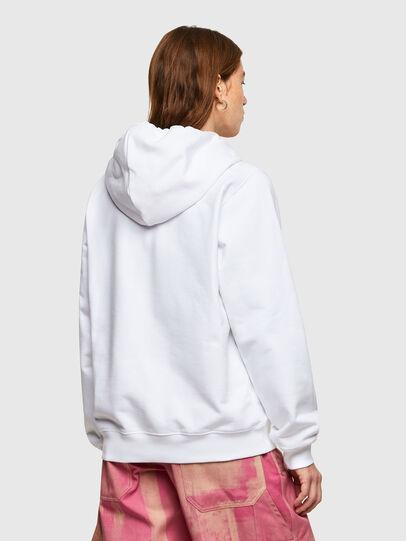 Diesel - F-ANG-HOOD-SMALLOGO, Weiß - Sweatshirts - Image 2