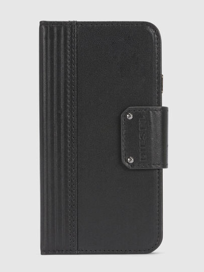Diesel - BLACK LINED LEATHER IPHONE 8/7 FOLIO,  - Klappcover - Image 3