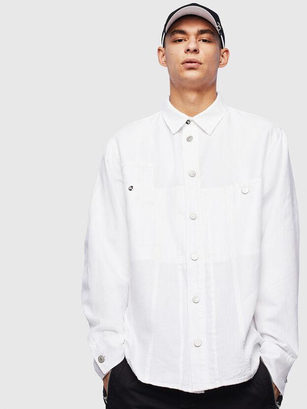 D-FLOX, Weiß - Denimhemden
