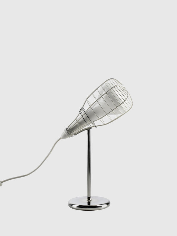 CAGE MIC BIANCO,  - Tischlampen