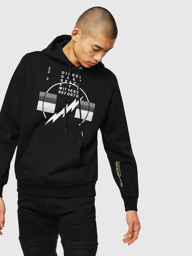 S-GIRK-HOOD-J5, Schwarz - Sweatshirts
