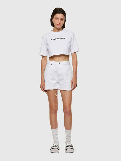 Diesel - T-RECROP, Weiß - T-Shirts - Image 4