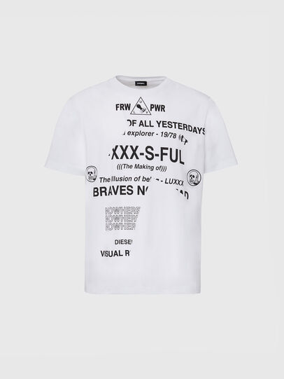 Diesel - T-JUST-FOLDED, Weiß - T-Shirts - Image 1
