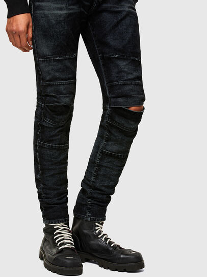 Diesel - D-Strukt JoggJeans® 069TG, Schwarz/Dunkelgrau - Jeans - Image 8