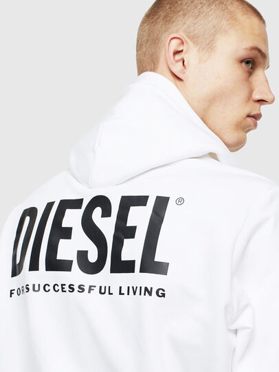 Diesel - S-GIRK-HOOD-ZIP-LOGO, Weiß - Sweatshirts - Image 5