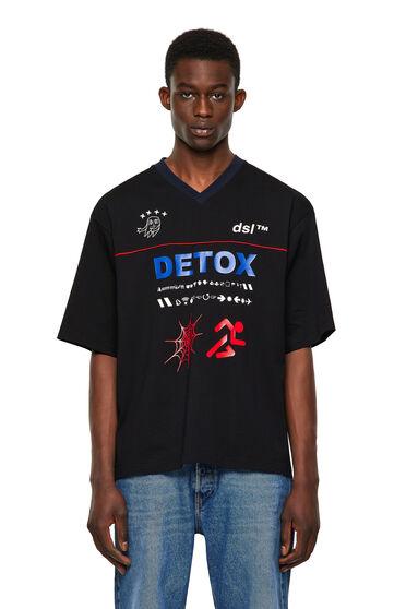 T-Shirts mit Prints und paspelierten Passen