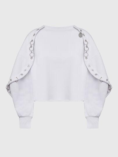 Diesel - F-OLL, Weiß - Sweatshirts - Image 1