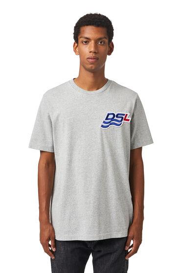 T-Shirt mit DSL-Wellenpatch