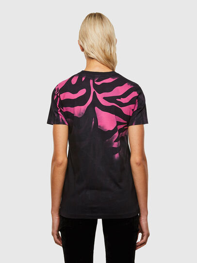 Diesel - T-SILY-R3, Schwarz/Rosa - T-Shirts - Image 2
