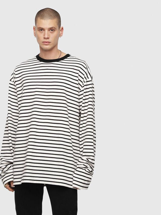 Diesel - T-DAICHI, Weiß/Schwarz - T-Shirts - Image 1