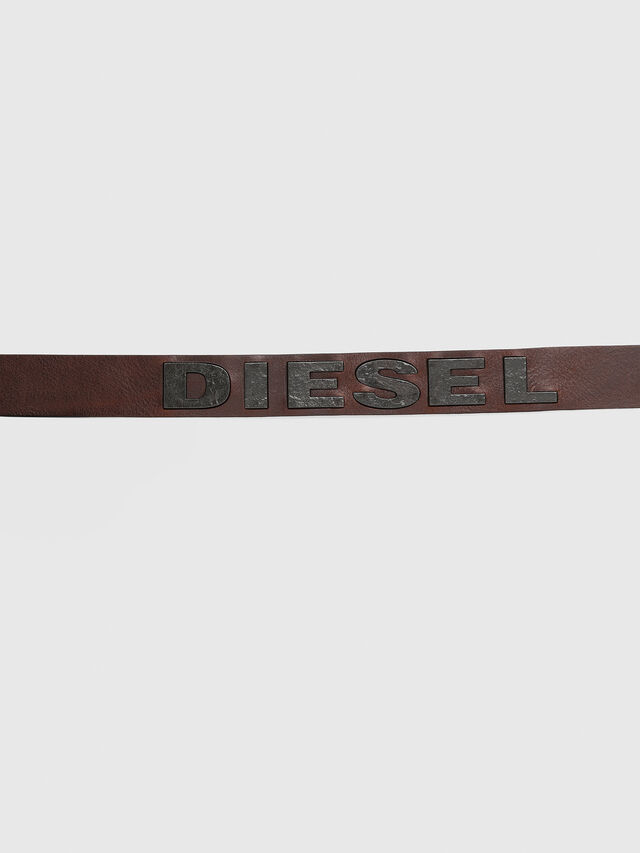 Diesel - B-BOLD, Braun - Gürtel - Image 4