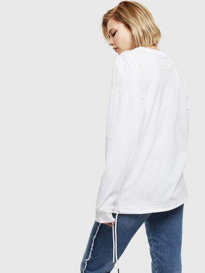 Diesel - T-HUSTY-LS, Weiß - T-Shirts - Image 4