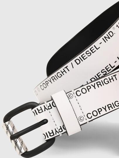 Diesel - B-FULCOPY, Weiß/Schwarz - Gürtel - Image 2