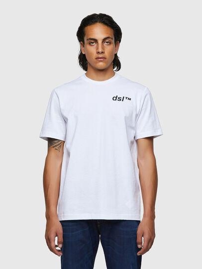 Diesel - T-JUST-B56, Weiß - T-Shirts - Image 1