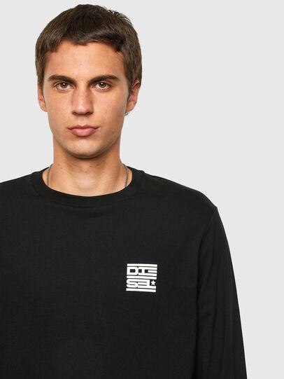 Diesel - T-JUST-LS-N61, Schwarz - T-Shirts - Image 4