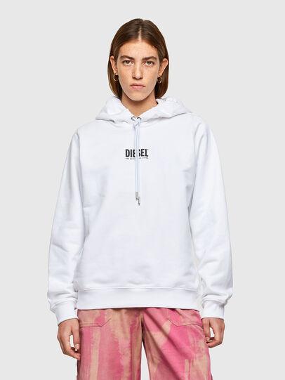Diesel - F-ANG-HOOD-SMALLOGO, Weiß - Sweatshirts - Image 1