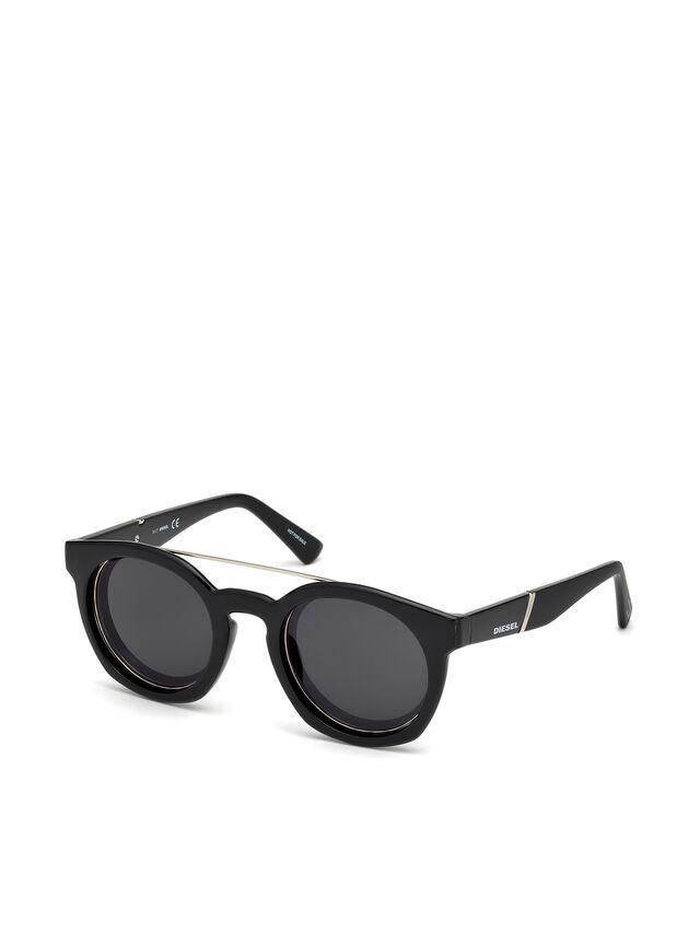 Diesel - DL0251, Brillantschwarz - Sonnenbrille - Image 4