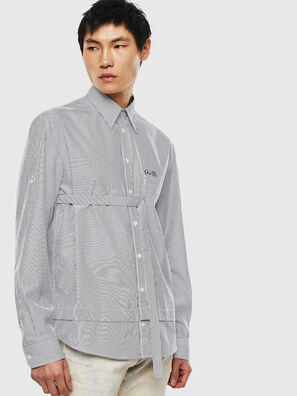 S-GARNET, Weiß/Schwarz - Hemden