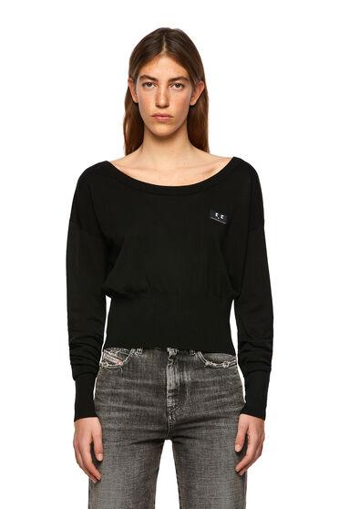Pullover aus Seidenmischgewebe mit anliegendem Bund