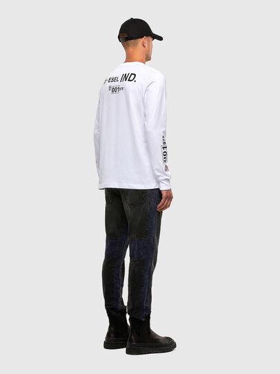 Diesel - T-JUST-LS-N62, Weiß - T-Shirts - Image 5
