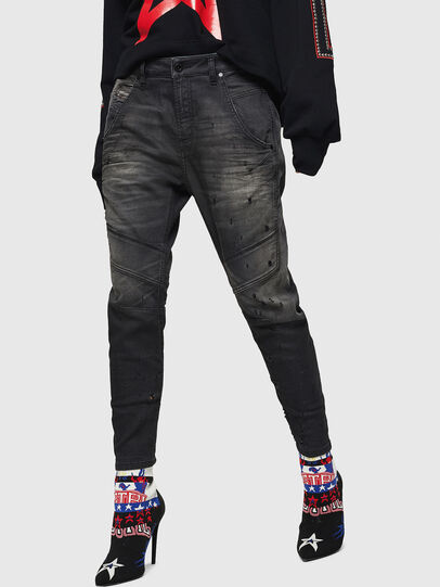 Diesel - Fayza JoggJeans 069GN, Schwarz/Dunkelgrau - Jeans - Image 1
