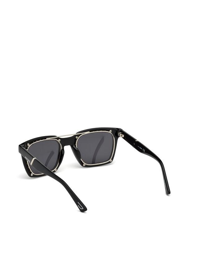 Diesel - DL0250, Brillantschwarz - Sonnenbrille - Image 3