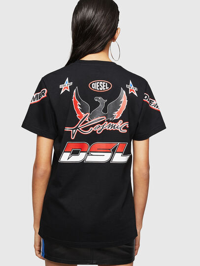 Diesel - ASTARS-T-DIEGO-FL, Schwarz - T-Shirts - Image 2