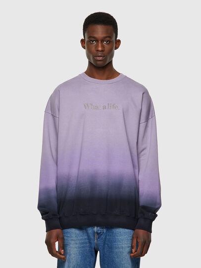 Diesel - S-MART-B4, Blau/Violett - Sweatshirts - Image 1