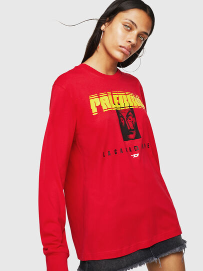Diesel - LCP-T-JUST-LS-PALERM, Rot - T-Shirts - Image 2
